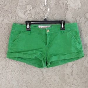 Women's Abercrombie and Fitch green denim shorts